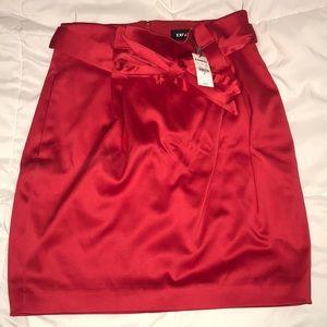Red Satin look High Waist Skirt
